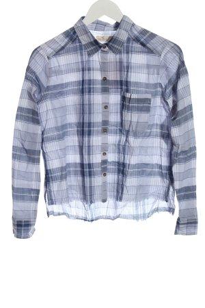 Hollister Camicia blusa bianco-blu motivo a quadri stile casual