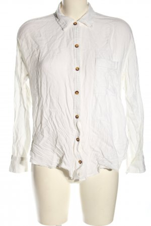 Hollister Hemd-Bluse weiß Business-Look