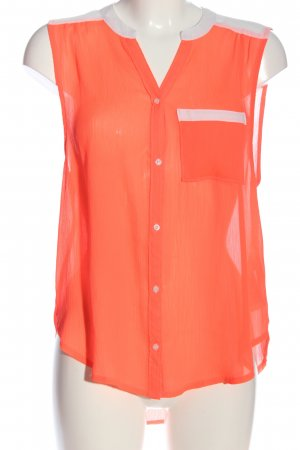Hollister Hemd-Bluse hellorange-weiß Business-Look