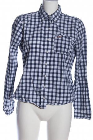 Hollister Hemd-Bluse blau-weiß Karomuster Business-Look