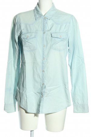 Hollister Hemd-Bluse blau Casual-Look