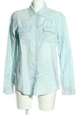 Hollister Hemd-Bluse blau Business-Look