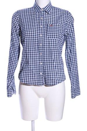 Hollister Hemd-Bluse blau-weiß Karomuster Casual-Look