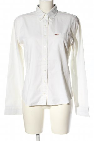 Hollister Hemd-Bluse weiß Casual-Look