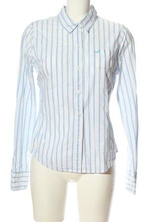 Hollister Hemd-Bluse blau-weiß Streifenmuster Business-Look