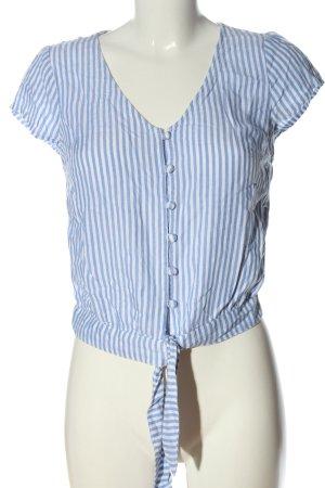 Hollister Blusa-camisa azul-blanco estampado a rayas look casual