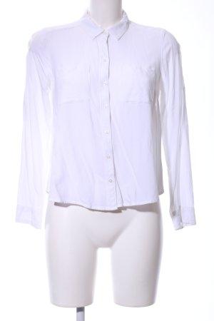 Hollister Hemd-Bluse weiß Business-Look