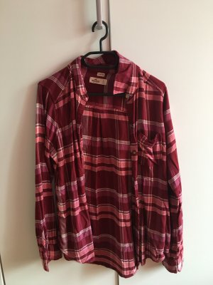 Hollister Long Sleeve Shirt dark red