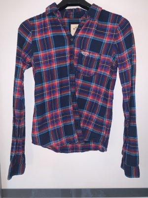 Hollister Koszula w kratę ciemnoczerwony-ciemnoniebieski