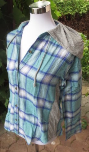 Hollister Hemd mit Kapuze Ocean Blue