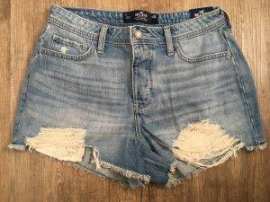 Hollister High-Waist-Shorts azure-white