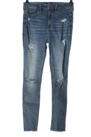 Hollister Jeans taille haute bleu style décontracté