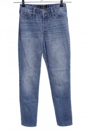 Hollister Hoge taille jeans blauw casual uitstraling
