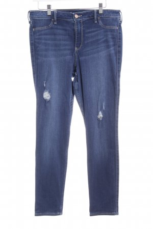 Hollister Hoge taille jeans donkerblauw casual uitstraling