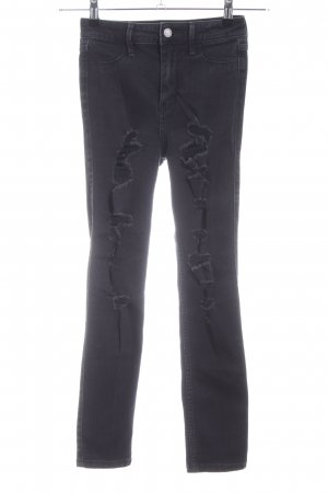 Hollister Hoge taille jeans zwart casual uitstraling