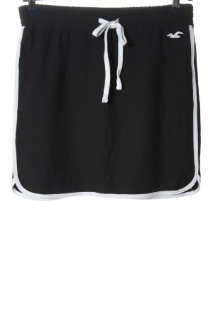Hollister High Waist Skirt black-white athletic style