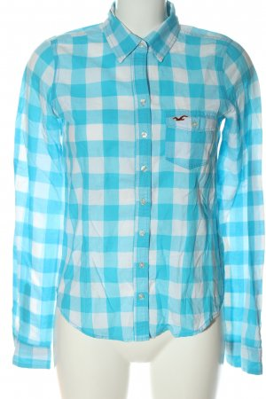Hollister Holzfällerhemd blau-weiß Karomuster Casual-Look