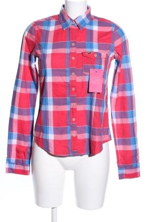 Hollister Houthakkershemd rood-blauw volledige print casual uitstraling