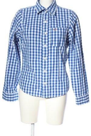 Hollister Holzfällerhemd weiß-blau Karomuster Casual-Look