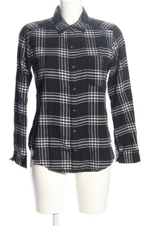 Hollister Holzfällerhemd schwarz-weiß Allover-Druck Casual-Look