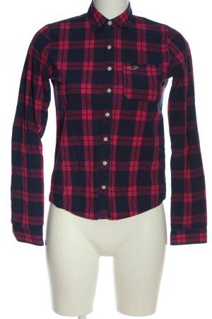 Hollister Holzfällerhemd schwarz-rot Allover-Druck Casual-Look