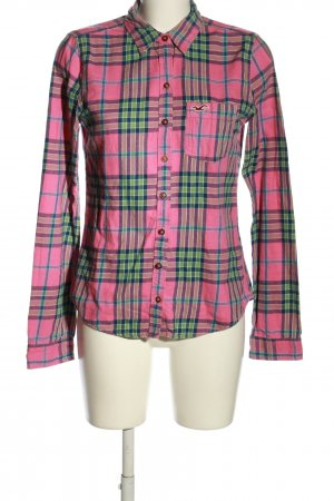 Hollister Holzfällerhemd pink-grün Karomuster Casual-Look