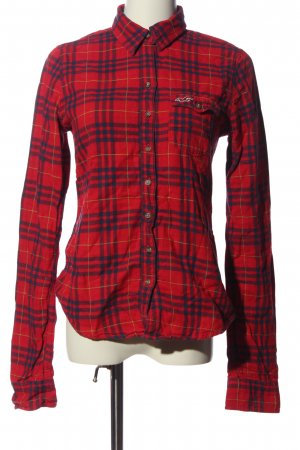 Hollister Holzfällerhemd rot-schwarz Karomuster Casual-Look