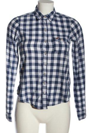 Hollister Holzfällerhemd weiß-blau Allover-Druck Casual-Look