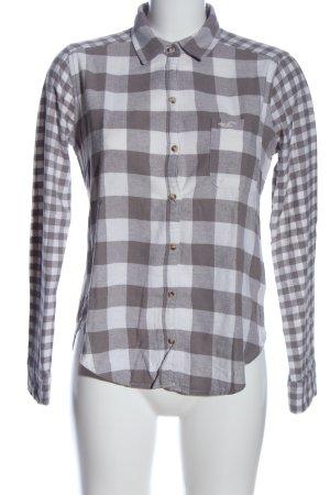 Hollister Holzfällerhemd hellgrau-weiß Allover-Druck Casual-Look