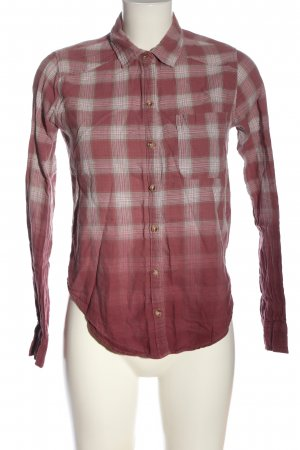 Hollister Lumberjack Shirt pink-white check pattern business style