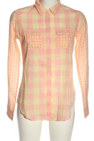 Hollister Holzfällerhemd pink-blassgelb Allover-Druck Casual-Look