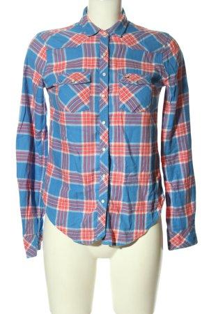 Hollister Camicia da boscaiolo blu-arancione chiaro motivo a quadri stile casual