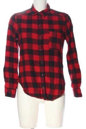 Hollister Holzfällerhemd rot-schwarz Allover-Druck Casual-Look