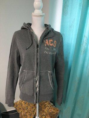Hollister Sweat Jacket grey mixture fibre