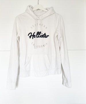Hollister Hoodie mit Logoaufdruck Creme weiss M