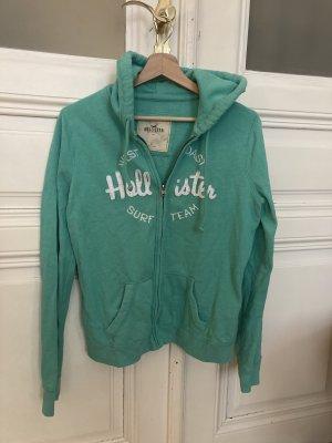 Hollister Pull à capuche blanc-turquoise