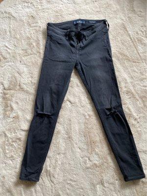 Hollister Jeansy biodrówki czarny