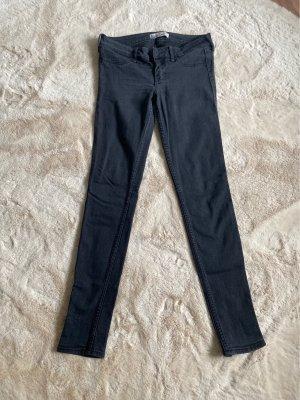 Hollister Pantalone a vita bassa nero