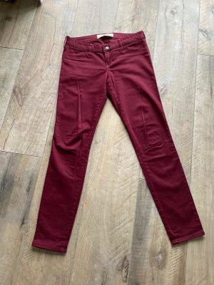 Hollister Pantalon cinq poches bordeau-rouge foncé