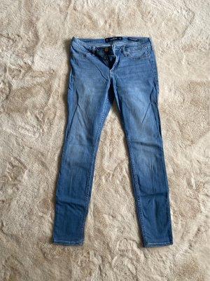Hollister Jeansy biodrówki błękitny