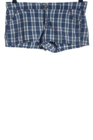 Hollister Short moulant bleu-blanc motif à carreaux style décontracté