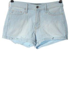 Hollister Hot Pants blau-weiß Streifenmuster Casual-Look