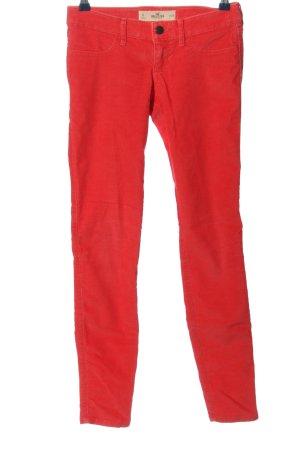 Hollister Pantalon taille basse rouge style décontracté