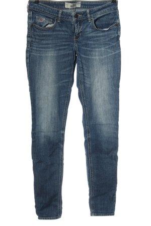 Hollister Jeans vita bassa blu stile casual