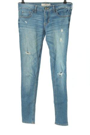Hollister Jeansy biodrówki niebieski W stylu casual