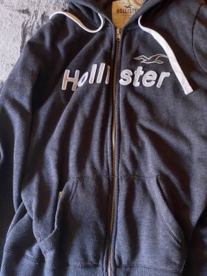 Hollister Giacca con cappuccio bianco-blu scuro
