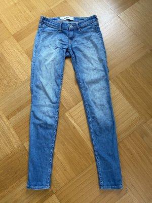 Hollister Low Rise jeans neon blauw Gemengd weefsel