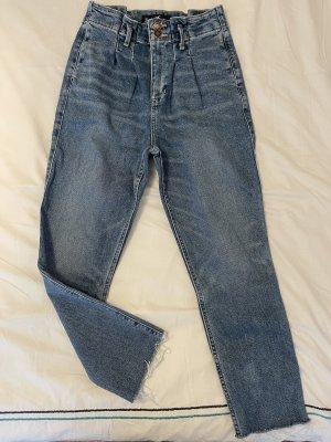 Hollister Mom-Jeans steel blue