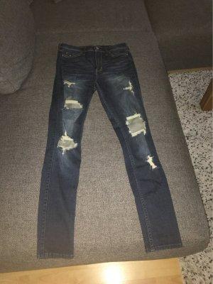 Hollister Pantalon taille haute bleu foncé