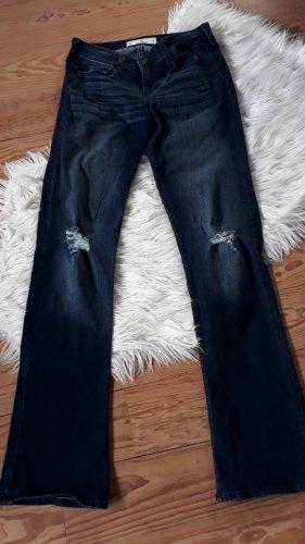 Hollister Jeansowe spodnie dzwony ciemnoniebieski
